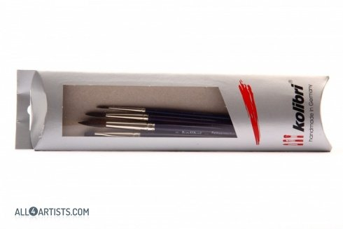 Squirrel Hair Watercolor Brush Set Kolibri