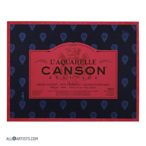 Canson Heritage Watercolor Paper Pad Hot Pressed