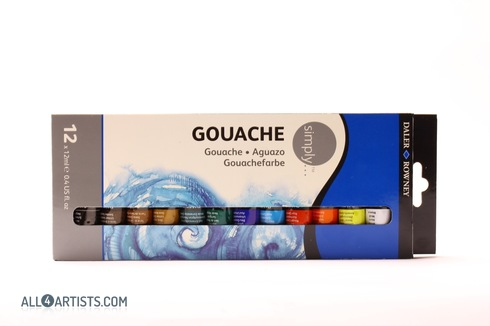 Daler Rowney Simply Gouache Set 12x12ml