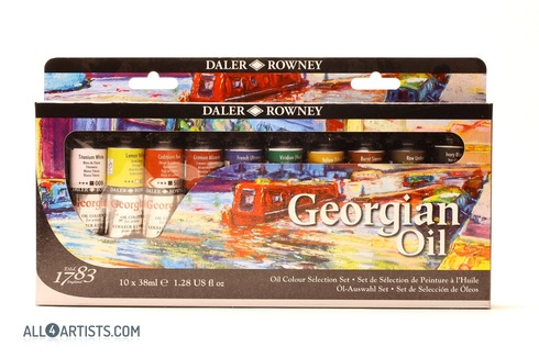 Daler Rowney Georgian Oil Selection Set 10x38ml
