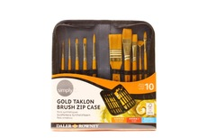 Simply gold taklon brush zip case Acrylic
