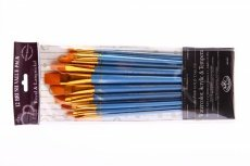 Gold Taklon Brush Set 4