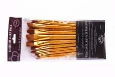 Brown Taklon Brush Set