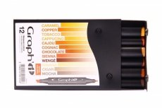 Graph'it 12 Marker Set wood colors