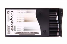Graph'it 12 Marker Set grey max