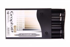 Graph'it 12 Marker Set warm grey colors
